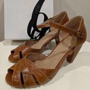 Nine West Leather Cone Heels - Brown